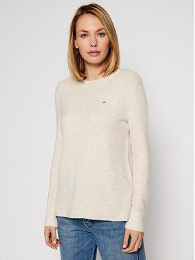 Calvin Klein Calvin Klein Sweter Ls Fluffy Crew Neck K20K202251 Beżowy Regular Fit