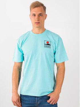 Edwin Edwin T-shirt Sunset On Mt Fuji Ts I025881 TG372M4 WDR67 Bleu Regular Fit