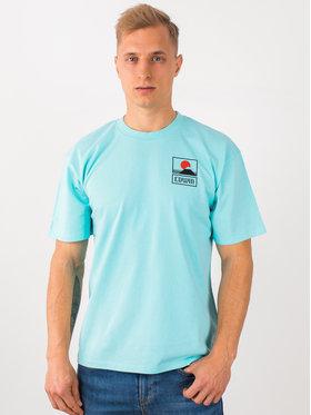 Edwin Edwin T-Shirt Sunset On Mt Fuji Ts I025881 TG372M4 WDR67 Niebieski Regular Fit