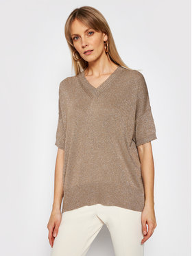Marella Marella Sweter Key 33610815 Beżowy Relaxed Fit