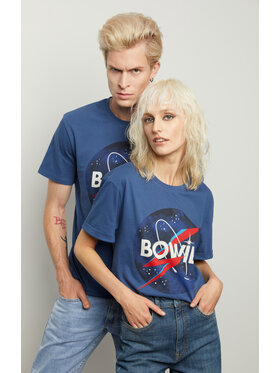 Vistula Vistula Тишърт Unisex David Bowie 9 XA1343 Син Regular Fit