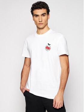 DC DC T-Shirt ADYZT04896 Biały Regular Fit