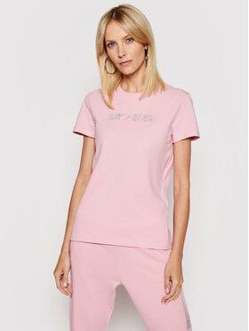 KARL LAGERFELD KARL LAGERFELD T-shirt Rhinestone Logo 211W1706 Ružičasta Regular Fit