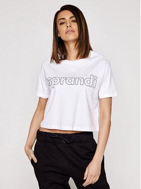 Sprandi Sprandi T-Shirt SS21-TSD001 Biały Cropp Fit
