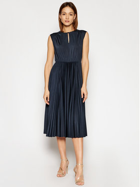 Marella Marella Коктейлна рокля Broise 36210311 Тъмносин Regular Fit