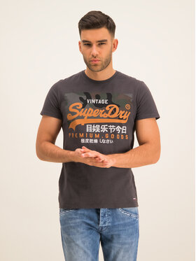 Superdry Superdry T-Shirt Premium Goods Camo M1000106A Grau Regular Fit