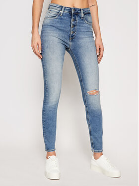 Calvin Klein Jeans Calvin Klein Jeans Džínsy J20J215884 Modrá Super Skinny Fit