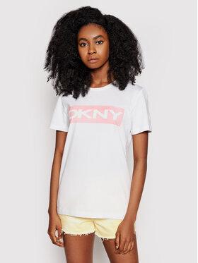 DKNY DKNY T-Shirt P0DARCNA Weiß Regular Fit