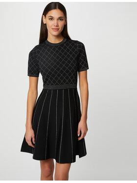 Morgan Morgan Sukienka dzianinowa 212-RMLINO Czarny Regular Fit