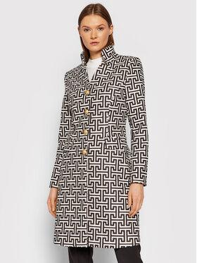 Rinascimento Rinascimento Prechodný kabát CFC0105069003 Biela Slim Fit