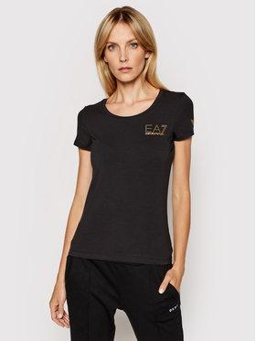EA7 Emporio Armani EA7 Emporio Armani T-shirt 8NTT65 TJ28Z 1200 Crna Slim Fit
