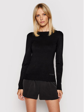 Guess Guess Sweter Elinor W1YR02 Z2V60 Czarny Slim Fit