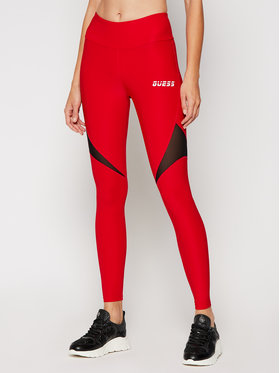 Guess Guess Leggings Transparent Active O0BA76 MC01P Rot Slim Fit