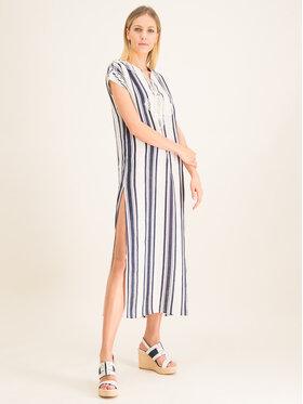 Tory Burch Tory Burch Sukienka letnia Awning Stripe Caftan 57114 Beżowy Regular Fit