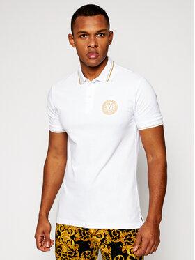 Versace Jeans Couture Versace Jeans Couture Тениска с яка и копчета B3GWA7T3 Бял Slim Fit