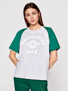 PLNY LALA PLNY LALA T-shirt Warszawska Lala PL-KO-S5-00007 Gris Relaxed Fit