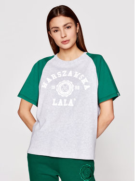 PLNY LALA PLNY LALA T-Shirt Warszawska Lala PL-KO-S5-00007 Šedá Relaxed Fit