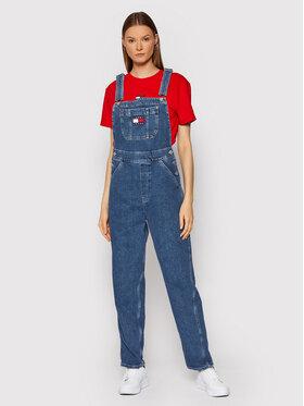 Tommy Jeans Tommy Jeans Гащеризон с презрамки Badge Denim DW0DW10575 Тъмносин Regular Fit