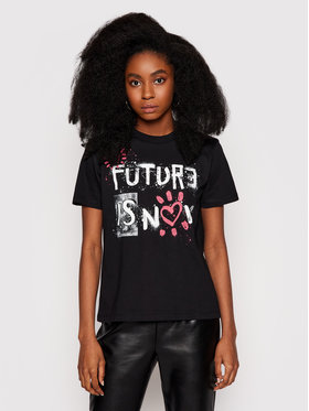 Desigual Desigual T-shirt Future Is Now 21SWTKDB Noir Regular Fit
