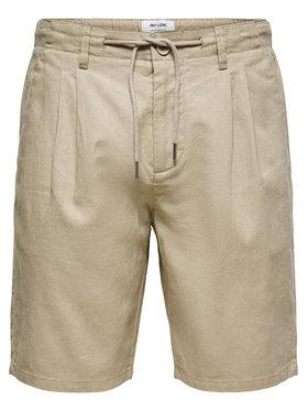 Only & Sons ONLY & SONS Bavlnené šortky Leo 22019201 Béžová Regular Fit