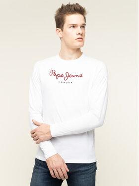 Pepe Jeans Pepe Jeans S dlhými rukávmi Eggo Long PM501321 Biela Regular Fit