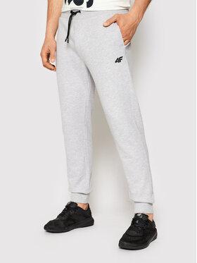 4F 4F Spodnie dresowe NOSH4-SPMD001 Szary Regular Fit