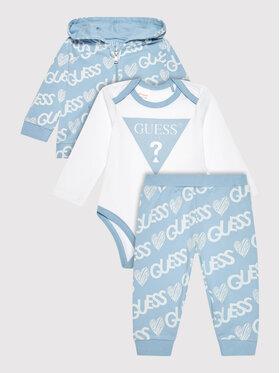 Guess Guess Set bluză, body și pantaloni de trening H1YW09 KA6W0 Albastru Regular Fit