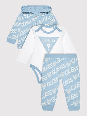 Guess Guess Set majica dugih rukava, body i trenerka H1YW09 KA6W0 Plava Regular Fit