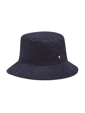 Tommy Hilfiger Tommy Hilfiger Klobouk bucket hat Monogram AW0AW09799 Tmavomodrá