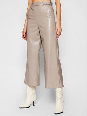 MSGM MSGM Kalhoty z imitace kůže 3041MDP06B 217101 Šedá Regular Fit