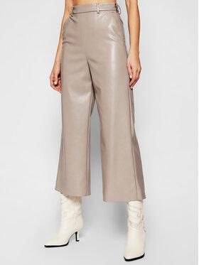 MSGM MSGM Pantaloni din imitație de piele 3041MDP06B 217101 Gri Regular Fit