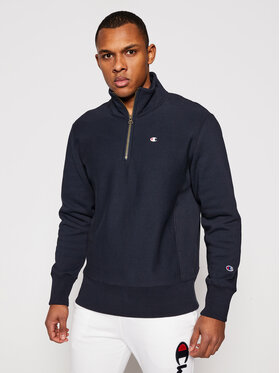 Champion Champion Sweatshirt Half Zip-Up 214678 Bleu marine Custom Fit