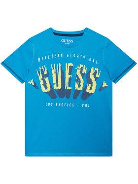 Guess Guess T-Shirt L1GI16 K8HM0 Niebieski Regular Fit