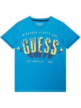 Guess Guess Tricou L1GI16 K8HM0 Albastru Regular Fit