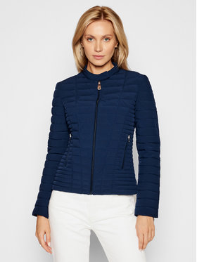 Guess Guess Geacă din puf Vona W0BL1I W6NW0 Bleumarin Slim Fit