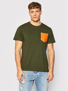 Tommy Jeans Tommy Jeans T-Shirt Contrast Pocket Tee DM0DM11439 Grün Regular Fit