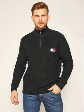 Tommy Jeans Tommy Jeans Pulover Tommy Badge DM0DM08809 Negru Regular Fit