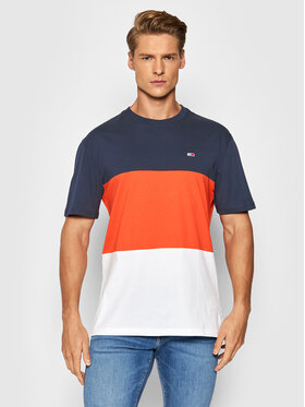 Tommy Jeans Tommy Jeans Тишърт Classic DM0DM10885 Тъмносин Loose Fit