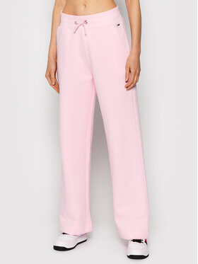 Tommy Jeans Tommy Jeans Παντελόνι φόρμας Wide Leg DW0DW11180 Ροζ Relaxed Fit