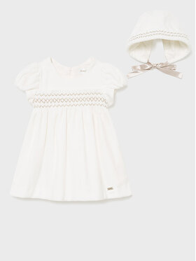 Mayoral Mayoral Φόρεμα κομψό 2819 Λευκό Regular Fit