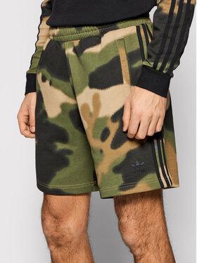adidas adidas Pantaloni scurți sport Camo Aop GN1887 Verde Regular Fit