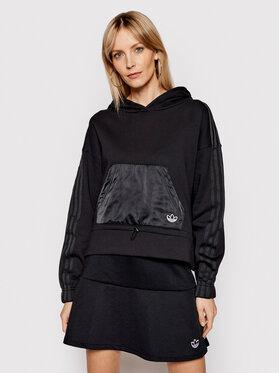 adidas adidas Bluză Boxy GN3102 Negru Regular Fit