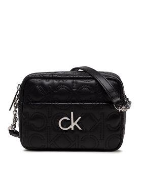 Calvin Klein Calvin Klein Дамска чанта Re-Lock Camera Bag Quilt K60K608589 Черен