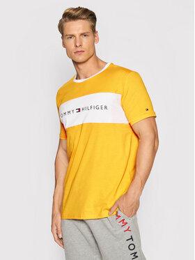 Tommy Hilfiger Tommy Hilfiger Тишърт Logo Flag UM0UM01170 Жълт Regular Fit
