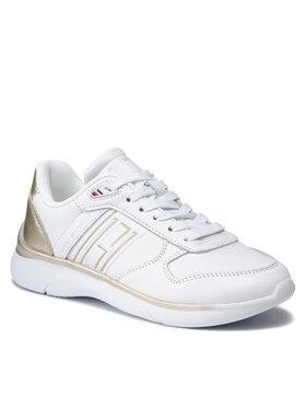 Tommy Hilfiger Tommy Hilfiger Sneakersy Leather Lightweight Sneaker FW0FW06016 Bílá