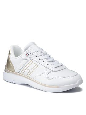 Tommy Hilfiger Tommy Hilfiger Сникърси Leather Lightweight Sneaker FW0FW06016 Бял