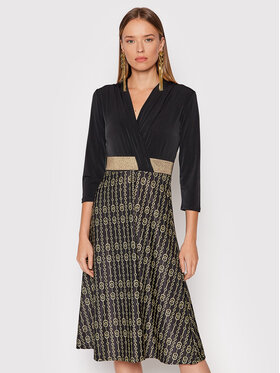 Rinascimento Rinascimento Každodenní šaty CFC0018159002 Černá Regular Fit