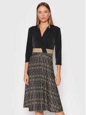 Rinascimento Rinascimento Kleid für den Alltag CFC0018159002 Schwarz Regular Fit