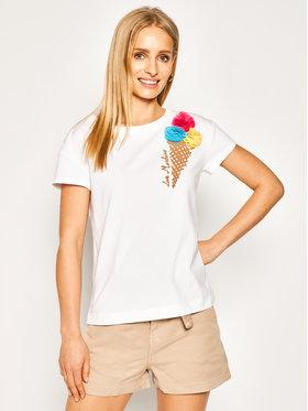 LOVE MOSCHINO LOVE MOSCHINO T-shirt W4F301XE 1698 Blanc Regular Fit