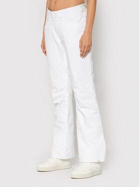 Roxy Roxy Spodnie snowboardowe Backyard ERJTP03167 Biały Tailored Fit